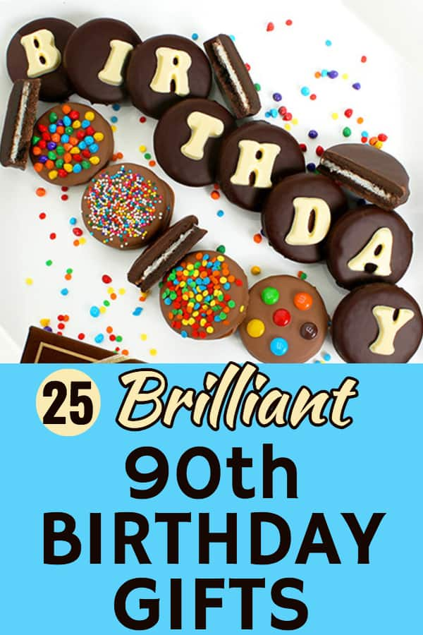 90th Birthday Gift Ideas - Looking for an awesome birthday present for someone turning 90? Click to see 25 brilliant 90th birthday gifts that your favorite senior lady or man will really appreciate! #FINDinista.com #90thBirthday #gifts #giftideas #present
