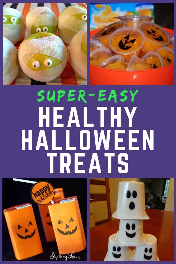 Healthy Halloween Treats - Looking for super-easy Halloween snacks that are healthy? If you're a busy mom, check out these 8 simple but fun Halloween treats that are perfect for lunchbox or classroom parties!