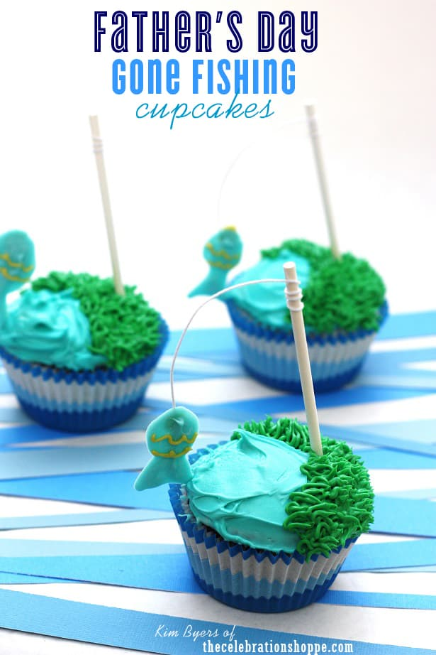 Father\'s Day Fishing Cupcakes