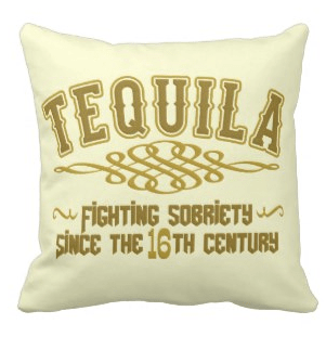 Funny gifts for tequila lovers - love this adorable pillow!