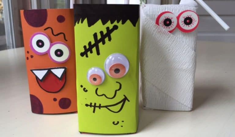 6 Spook-tacular Halloween Juice Boxes (Includes Free Printables)
