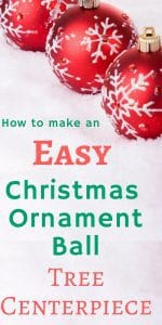Love those adorable Christmas ornament ball trees you see? It's so easy to make them at home...Check out these instructions on how to make an easy Christmas ornament ball tree centerpiece!