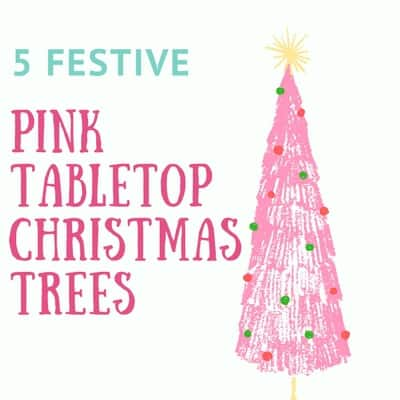 Add A Sparkling Feminine Touch To Your Holiday With Lovely Pink Tabletop Christmas Tree It S Wonderfully Unique Color Use For Decorations