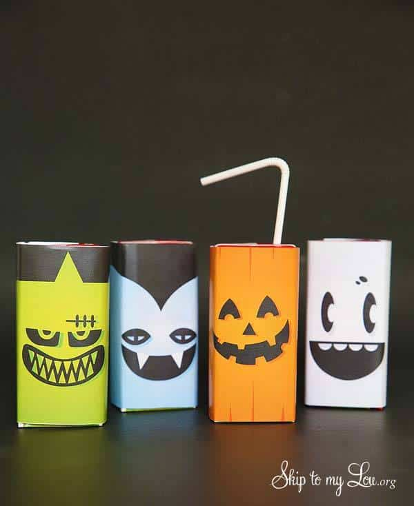 Free Printable Halloween Juice Box Covers