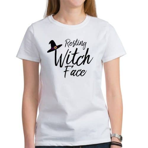 Halloween Shirts for Women - Ever been accused (or do you think you actually have) RBF? Then this Resting Witch Face is the perfect Halloween shirt for you!