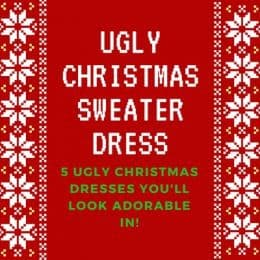 (Cute) Ugly Christmas Sweater Dresses