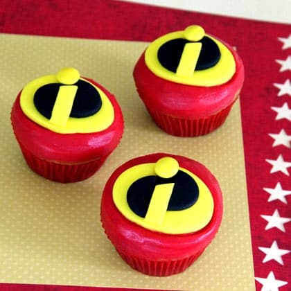 Mr. Incredible Fathers Day Cupcakes