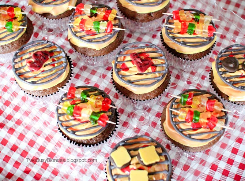 Fathers Day BBQ Grill Cupcakes