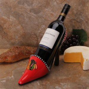 Chicago Blackhawks High Heel Wine Holder
