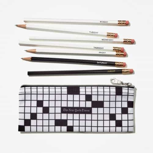 If they're the type to do their puzzles in pencil, then they'll definitely appreciate this themed pencil bag with 7 pencils. Each pencil is marked with a day of the week so that they don't use the wrong pencil on the wrong day. 'Cause things like that matter greatly to crossword puzzle fans.