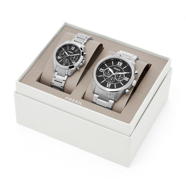 Fossil His and Hers Chronograph Watch Set