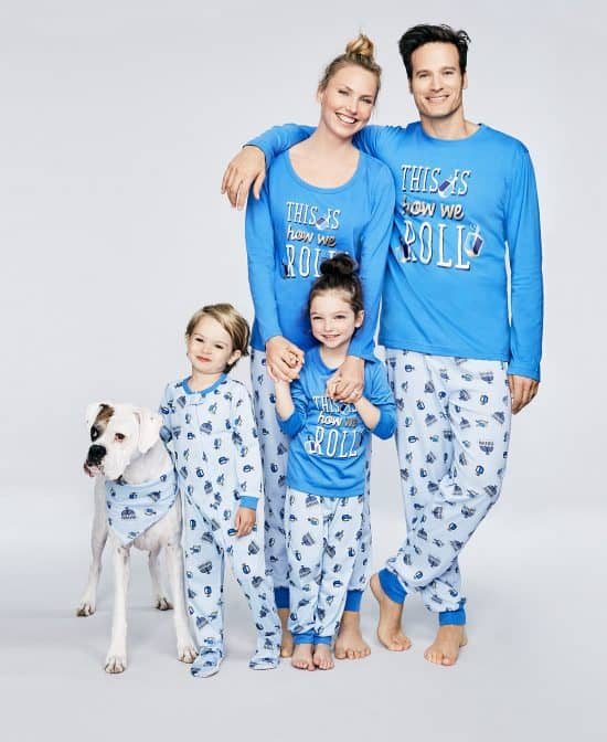 Matching Hanukkah pajamas are a fun way to celebrate - a great gift for the whole family!