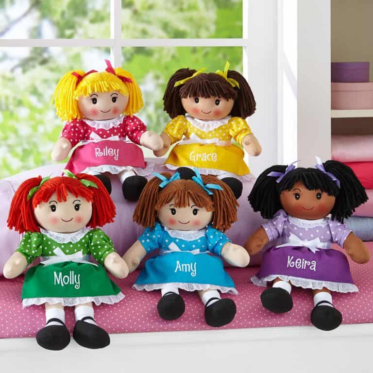 Adorable personalized rag dolls are sure to become your daughter's best friend!
