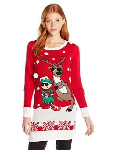 ugly christmas sweater dresses that you will look adorable in findinista - Christmas Sweater Dress