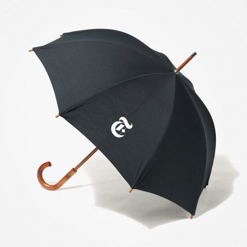 Stay dry - and stylish - with the iconic New York Times umbrella.
