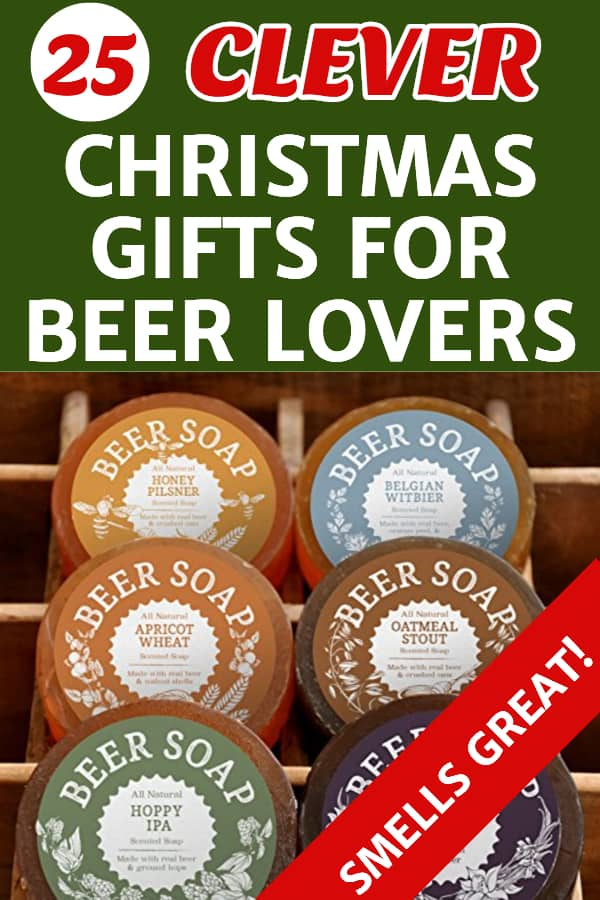 Looking for a great Christmas gift for your husband, Dad, boyfriend or any man who loves beer?  Find a unique Christmas gift that any beer guy will love!  #Christmasgifts #giftsforhim #FINDinista.com