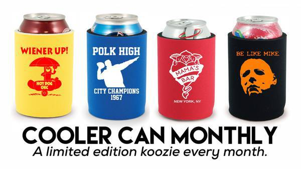 Koozie of the Month Club - Looking for a fun gift for the beer drinker?  Celebrate all year long with the affordable koozie of the month club! #giftsforhim #beer