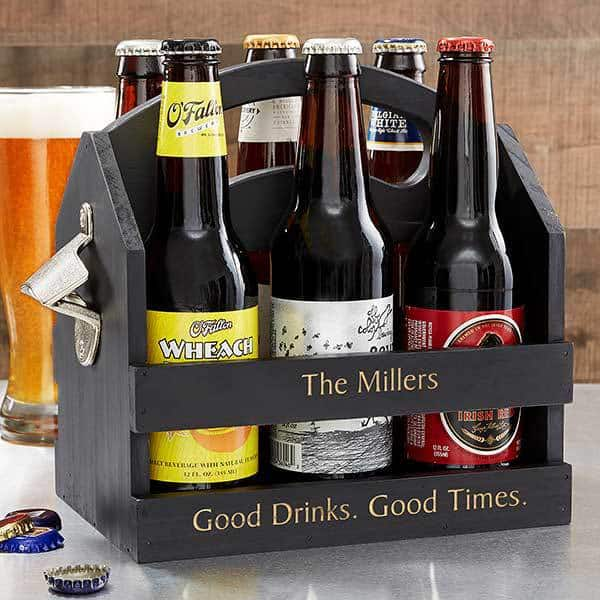 Personalized beer caddy - Looking for a unique gift for the man who has everything?  Surprise him with this striking - and practical - personalized beer caddy!
