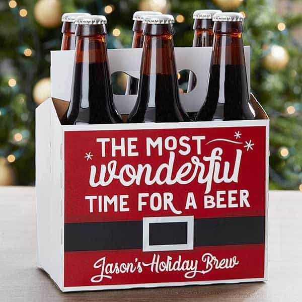 Beer Lover Christmas Gifts - Delight your favorite beer drinker with this cute and inexpensive personalized beer carrier!