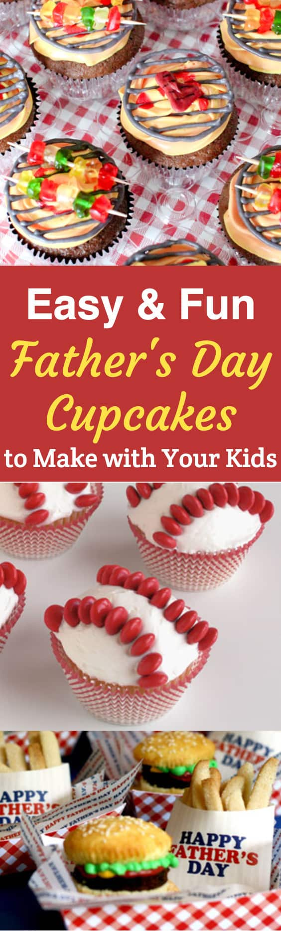 Easy and Fun Father's Day cupcakes - 13 cute Father's Day cupcake ideas that are easy enough for the kids to make!