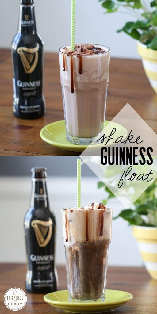 Looking for a frosty St. Patrick's Day cocktail? Check out this delightful Guinness Shake/Float recipe!