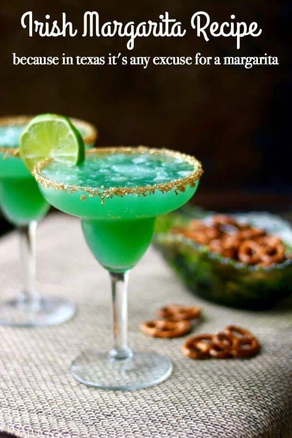 Irish Margarita Recipe - Because there should be a margarita for every occasion.