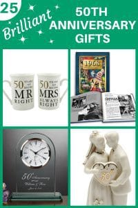 Gifts for 50 Year Wedding Anniversary - Shopping for the best gifts for 50th anniversary? Click to see 25+ awesome gift ideas that any couple celebrating their golden wedding anniversary will love! #FINDinista #50thanniversarygifts #50thanniversary