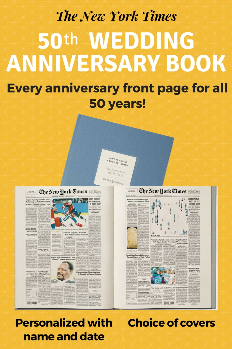 50th Anniversary Wedding gifts - Impress your favorite couple with The Ultimate Anniversary book from The