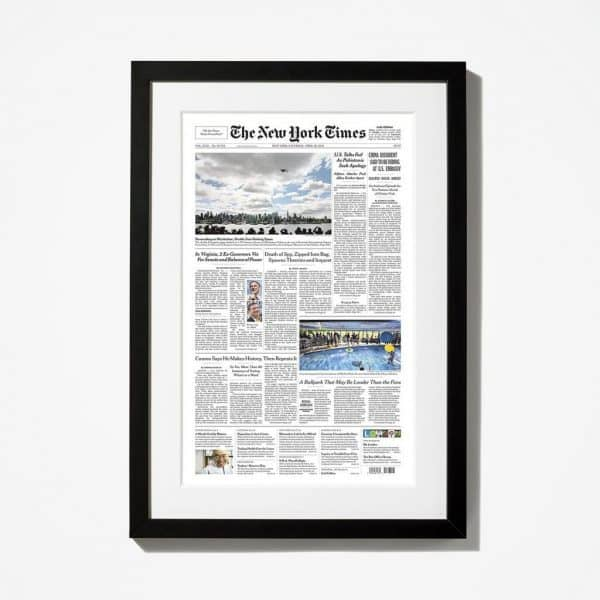 Looking for thoughtful golden wedding anniversary ideas for the couple that has everything? Surprise them with a reprint of The New York times front page from their wedding day...a wonderful stroll down memory lane!