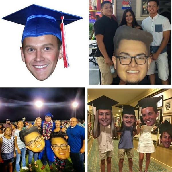 Fun big head cut-outs are sure to be the hit of your graduation - and the graduation party as well!