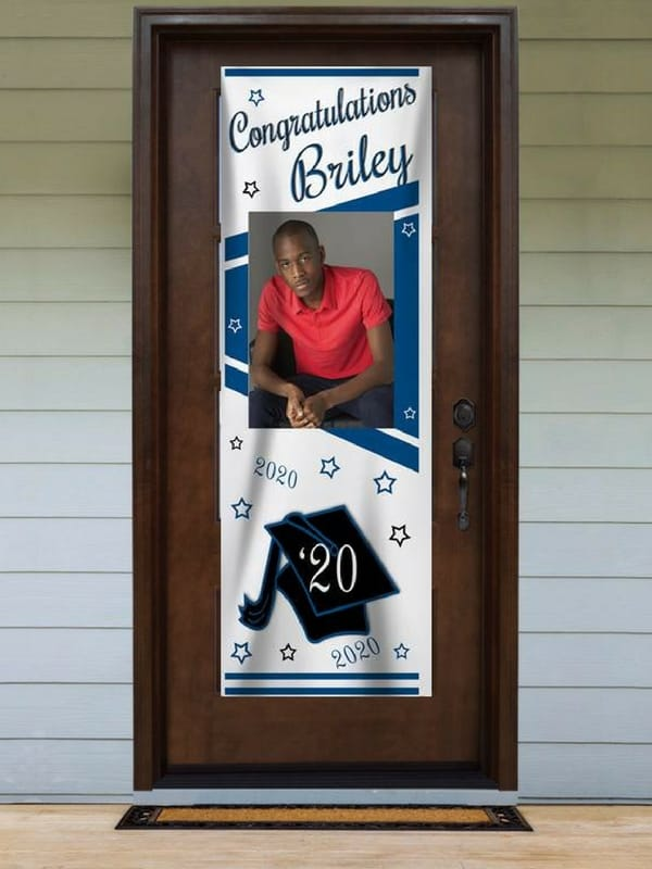 Graduation Party Front Door Banner - Welcome guests to your grad party in style with a personalized photo banner for the front door!