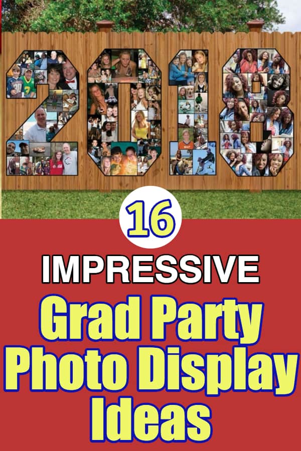 Graduation Party Photo Display Ideas - Looking for impressive ways to display your favorite pictures at a grad party?  Check out these unique picture board ideas!