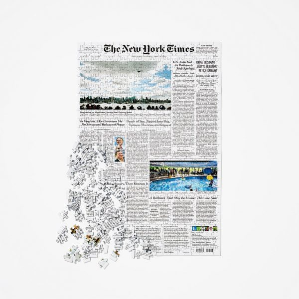 Unique Fiftieth Wedding Anniversary gifts - surprise them with a puzzle that features the New York Times front page from their wedding day!