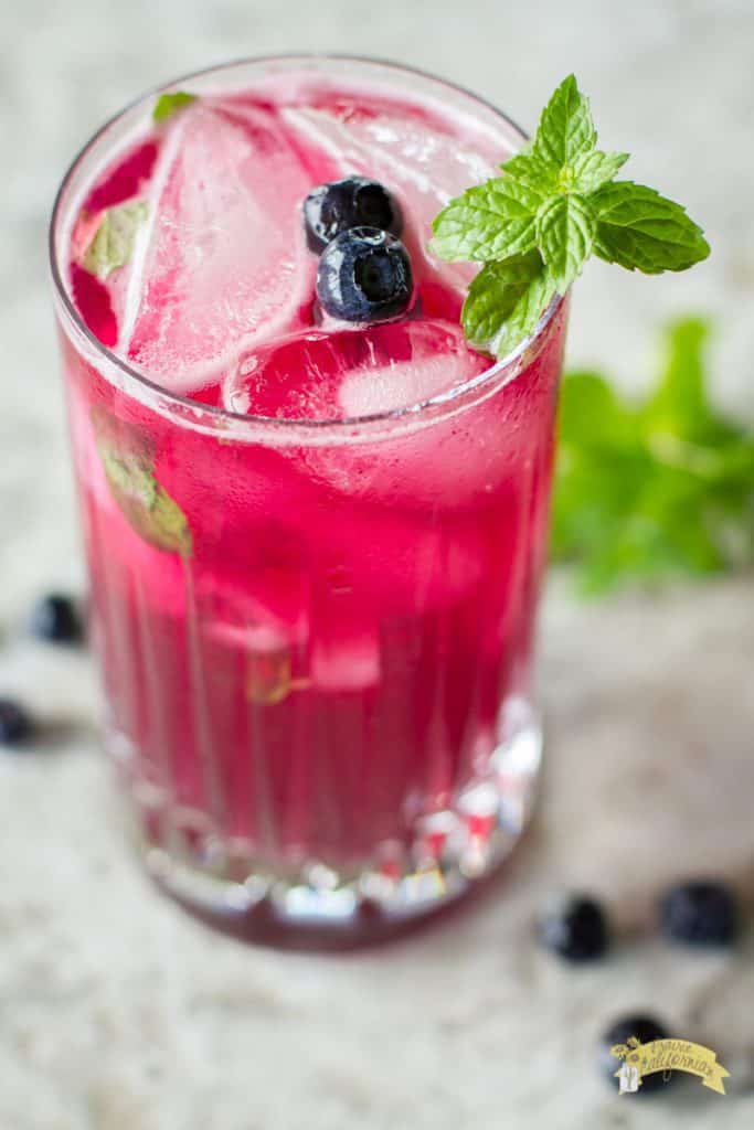 fun spring cocktail idea blueberry mojito fun spring drink