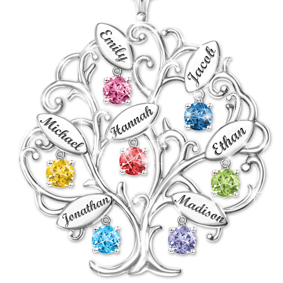 Family Tree Necklace Customizable Gifts for 70th Birthday for her
