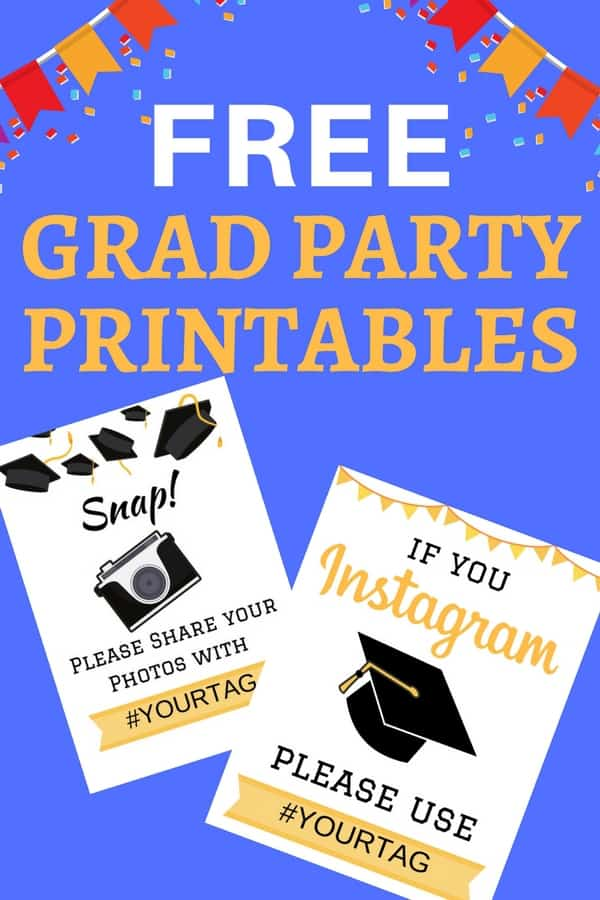 Free Grad Party Printables - Cute signs are a great way to encourage your guests to take loads of pictures at your graduation party! Click through to download these free printables for your graduation party! #graduationparty #gradparty #freeprintables