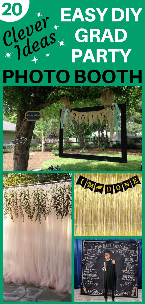 How to make an easy DIY grad party photo booth - A photo booth is a fabulous addition to any graduation party. No need to spend a fortune to rent a booth...click to find out how to make an easy homemade photo booth.