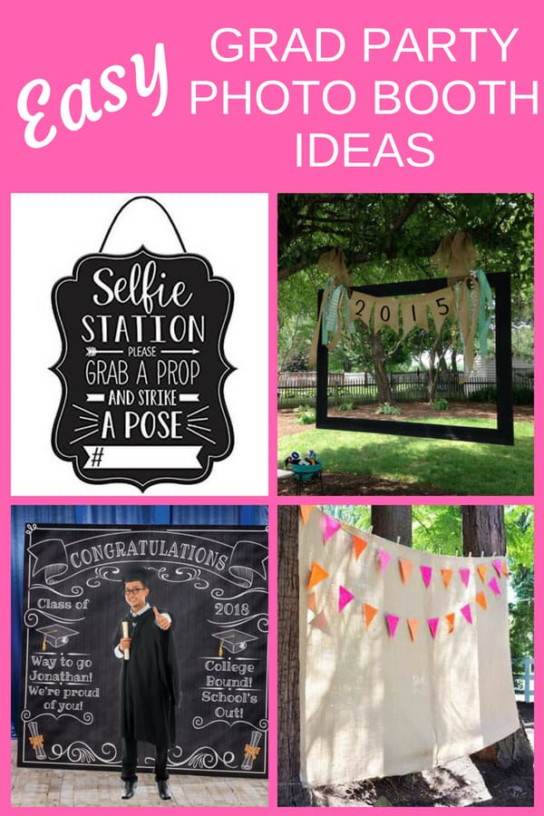 Easy Grad Party Photo Booth Ideas - Find super-simple ways to DIY your own graduation party photo booth. Your guests will have a ball with these grad party photo props and selfie station ideas. Click for details!