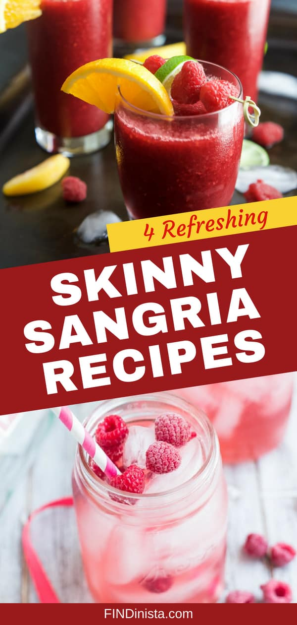 Skinny sangria recipes - Enjoy your favorite summer sangria without blowing your diet!  Check out these 4 delightfully refreshing skinny sangria recipes.