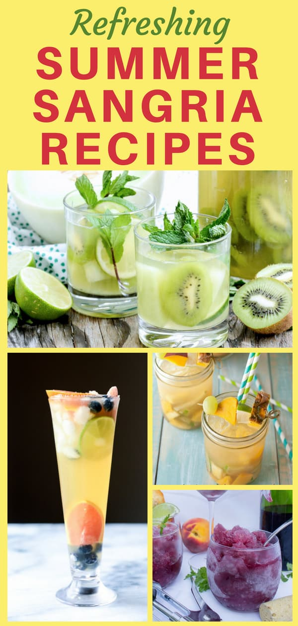Summer Sangria Recipes - Cool off this summer with a delicious sangria!  Click to see 21 scrumptious easy summer sangria recipes that are perfect for a crowd - or just for yourself!