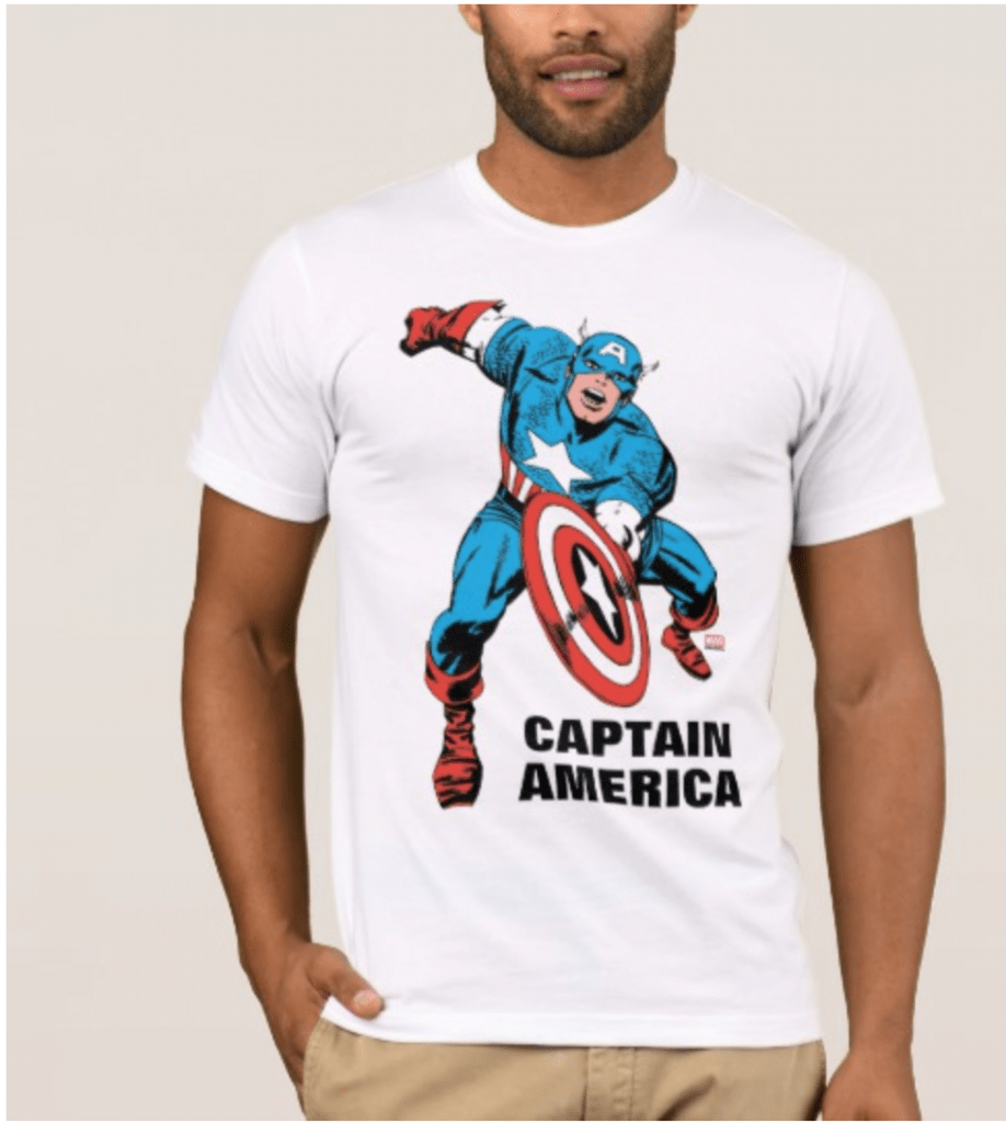 Captain America Shirt for 4th of July