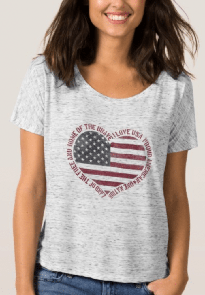 I Love America Shirt for 4th of July