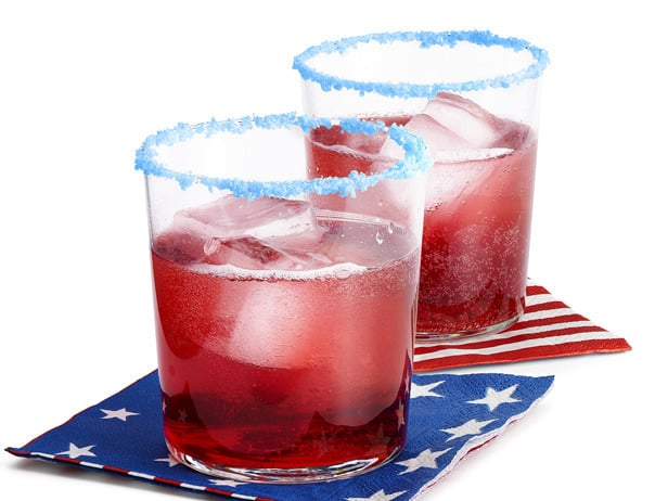 Fun pop rocks rimmed cocktails are like having little fireworks in your mouth! Sure to be a crowd-pleaser at your 4th of July party.