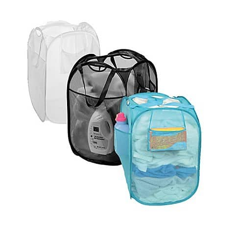 Pop Up Mesh Laundry Hamper - College Dorm Essential