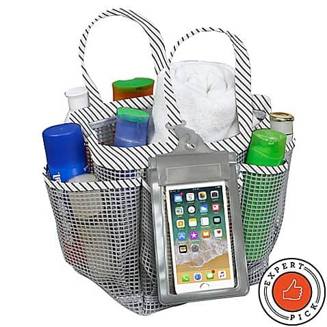 Shower Tote With Phone Holder - Must Have Dorm Essential