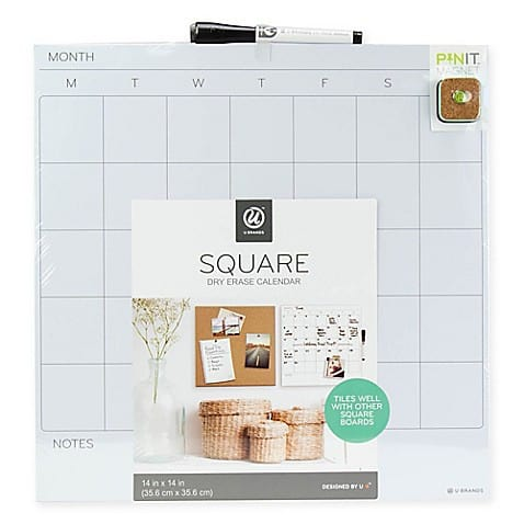 Dry Erase Board Calendar - Perfect Dorm Decoration