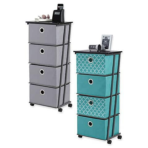 4 Door Storage Cart - Dorm Room Essential You Need