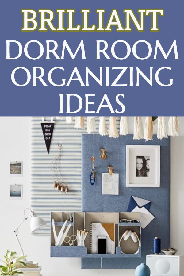 Dorm room organizing ideas - Reduce clutter and keep your dorm room organized and tidy with these easy dorm room organizing ideas.  #dorm #dormroom #organization #organizing #college #freshmanyear #organizing #organization #FINDinista.com