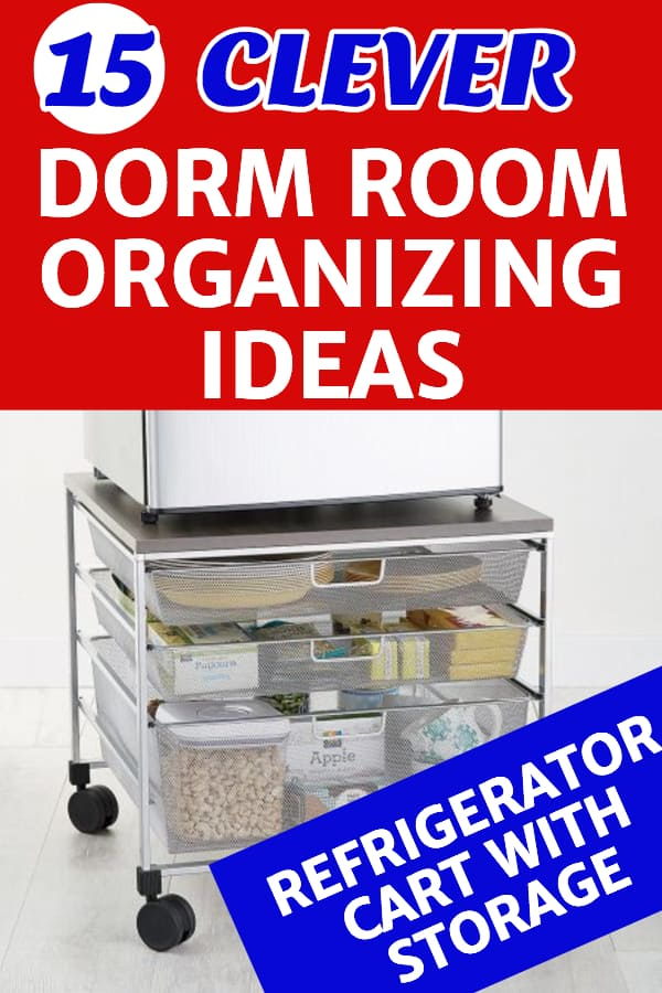Dorm Room Organizing Ideas - Looking for easy ways to organize your dorm room?  Click to see 15 awesome college dorm room organization tips and hacks!  #dorm #dormroom #college #freshmantips #organizing #organization #FINDinista.com