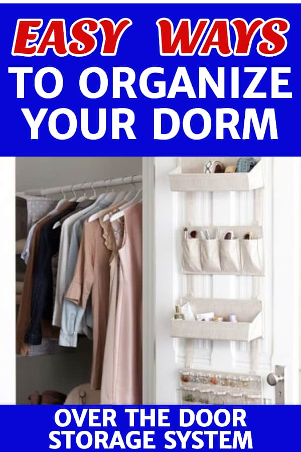Easy Ways to Organize Your Dorm Room - Moving into a college dorm for the first time?  Staying organized will make dorm life much easier!  Click to see 15+ easy organizing ideas for your dorm room.  #organization #dorm #dormroom #dormideas #college #freshmanyear #organization #organizing #FINDinista.com